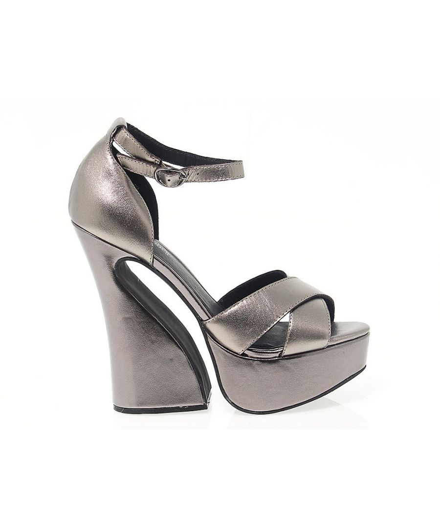 Image for JEFFREY CAMPBELL WOMEN'S STEFANYASILVER SILVER LEATHER SANDALS