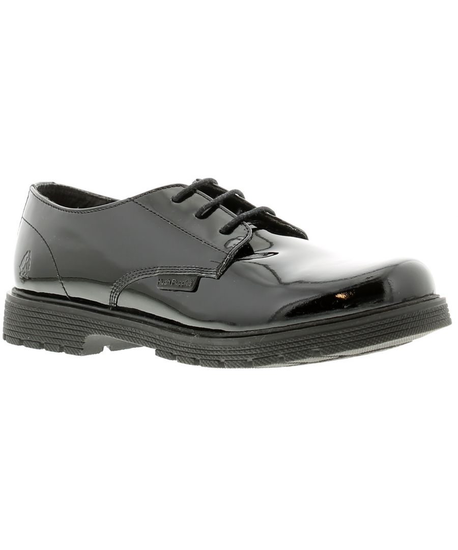 Image for Hush Puppies remi Older Girls Shoes Patent Coated Leather black 13 - 6
