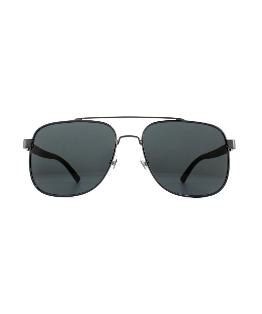 Image for Gucci Sunglasses GG0422S 001 Grey Black Grey