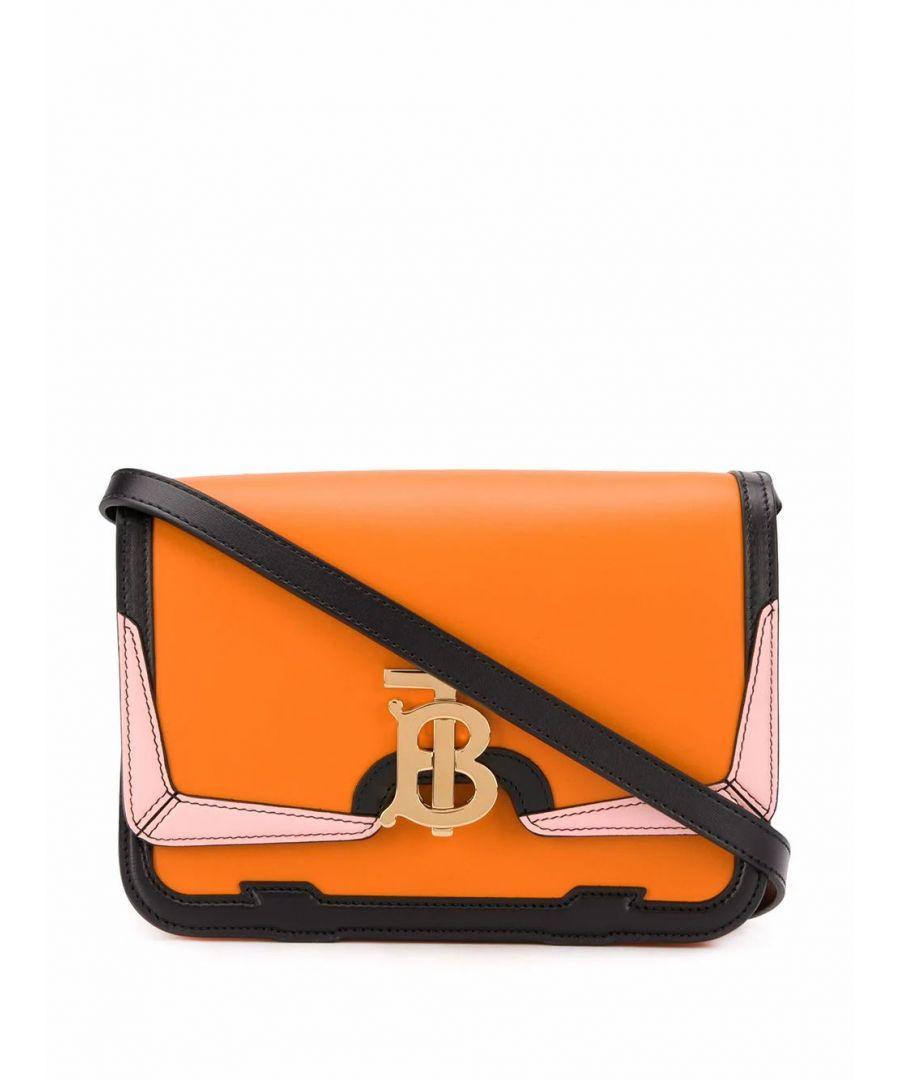 Image for BURBERRY WOMEN'S 8023072 ORANGE LEATHER SHOULDER BAG