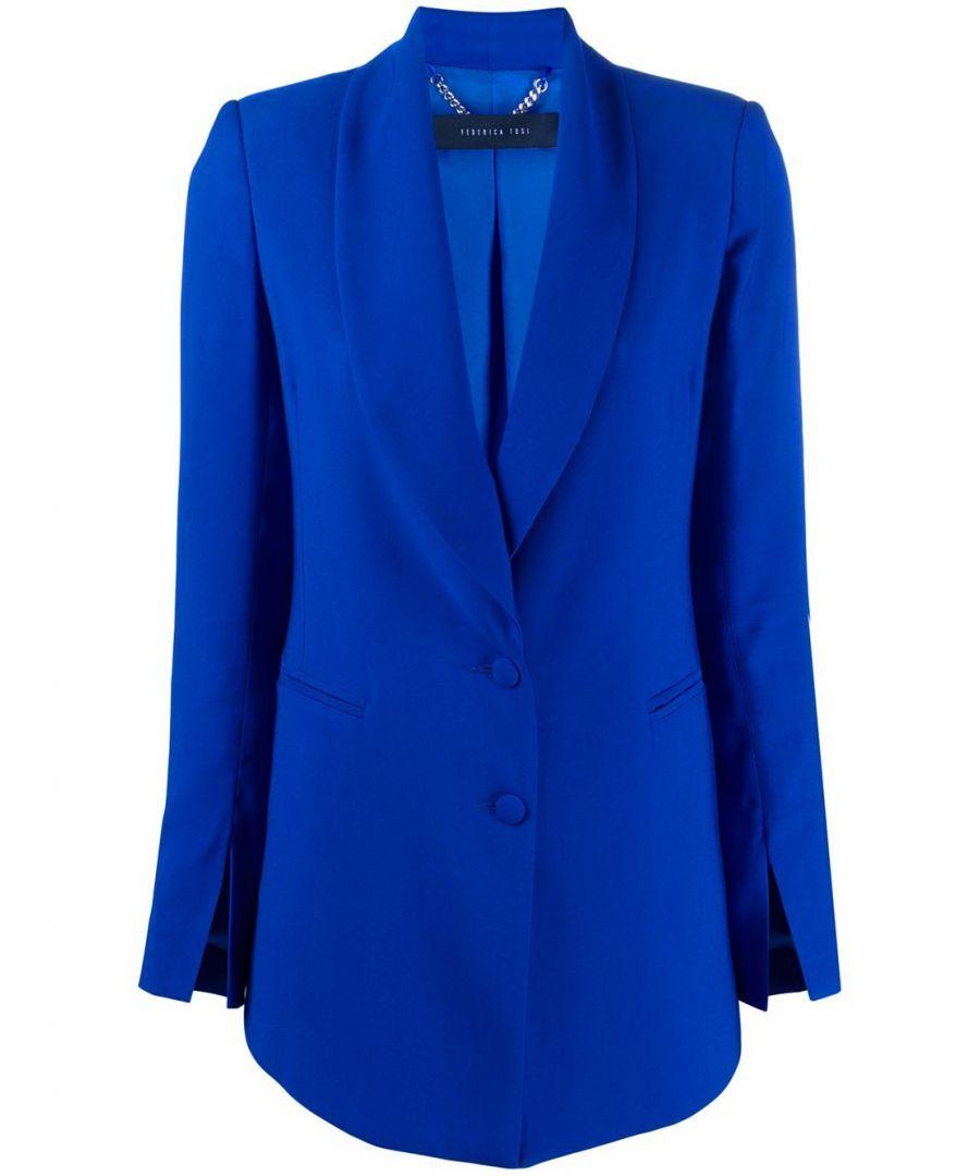 Image for FEDERICA TOSI WOMEN'S FTE20GI0910AKUMAL0011 BLUE VISCOSE BLAZER