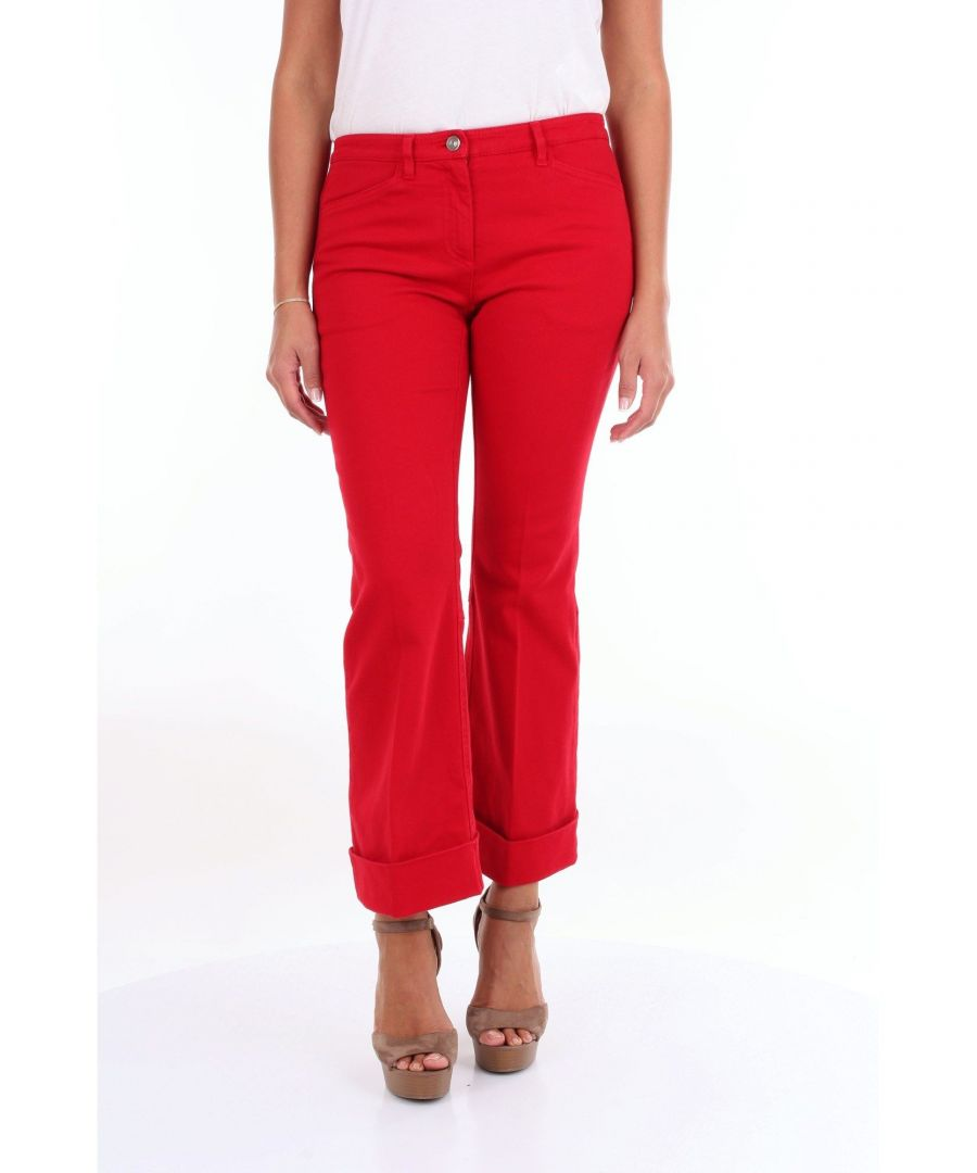 Image for N°21 WOMEN'S N2M023010414ROSSO RED COTTON JEANS