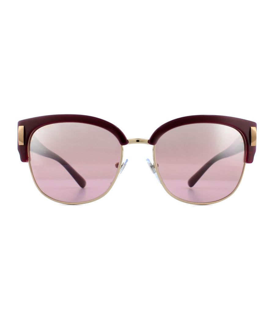 Image for Bvlgari Sunglasses 8189 54267E Violet and Rose Gold Pink Mirror Silver Gradient
