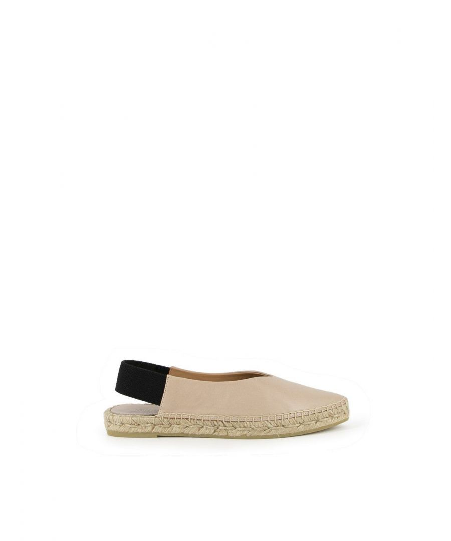 Image for PALOMA BARCELÓ WOMEN'S ANNABEIGE BEIGE LEATHER ESPADRILLES