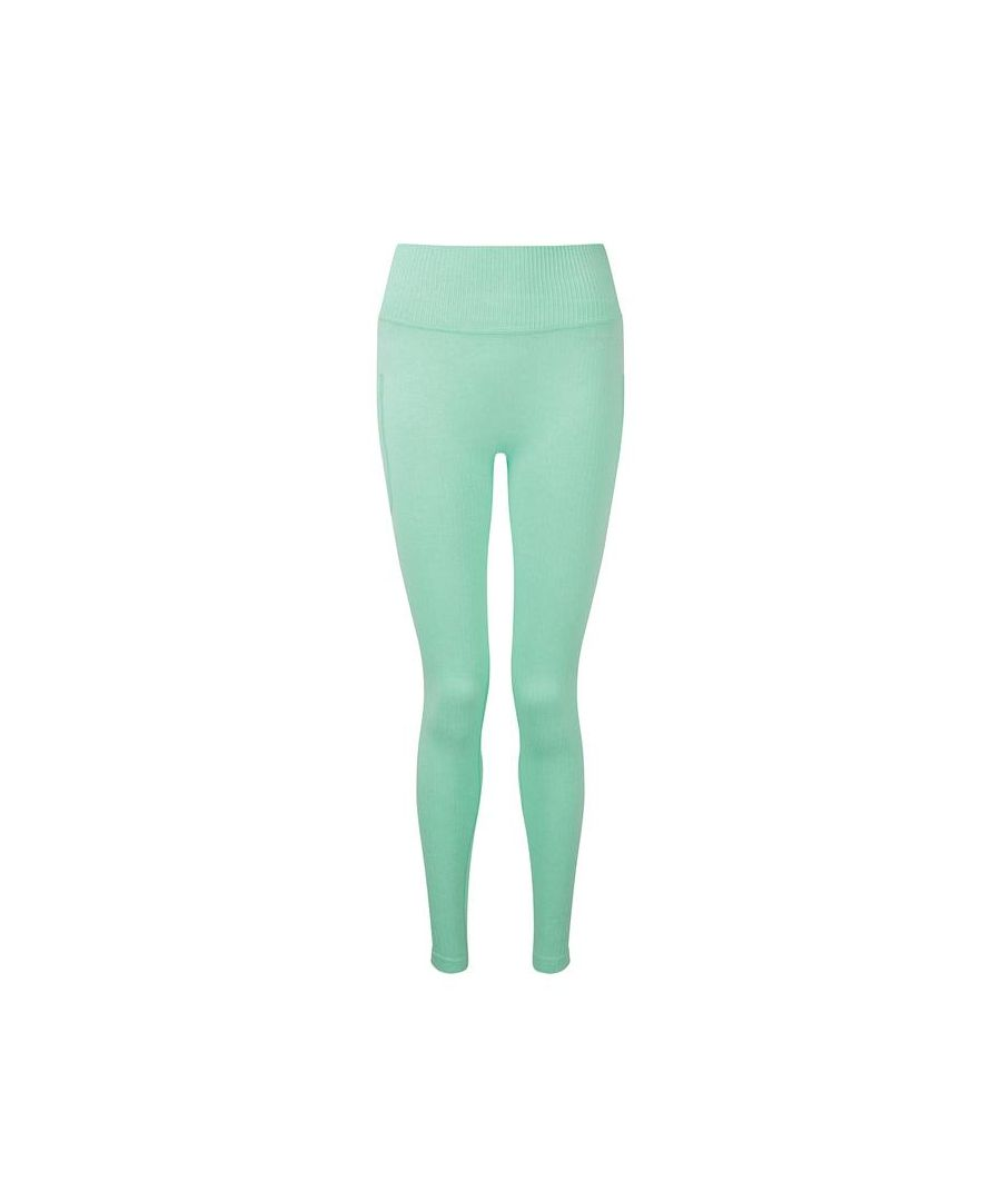 Image for Seamless Ribbed High Waist Leggings in Mint