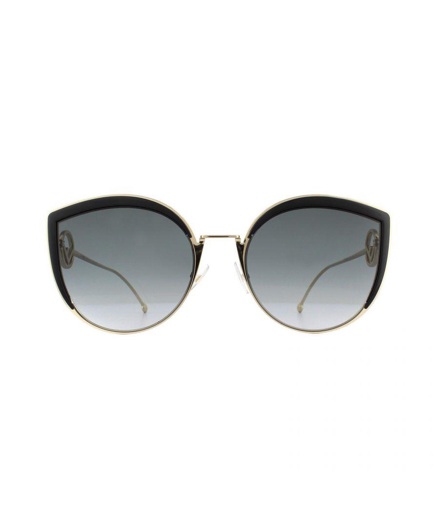 Image for Fendi Sunglasses FF 0290/s 807 9O Black Gold Grey Gradient