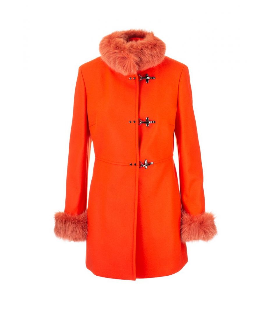 Image for FAY WOMEN'S NAW5039400URCPG817 ORANGE WOOL COAT