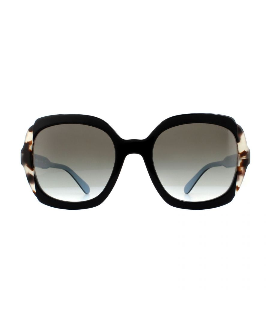 Image for Prada Sunglasses PR 16US KHR0A7 Black Azure Spotted Brown Grey Gradient
