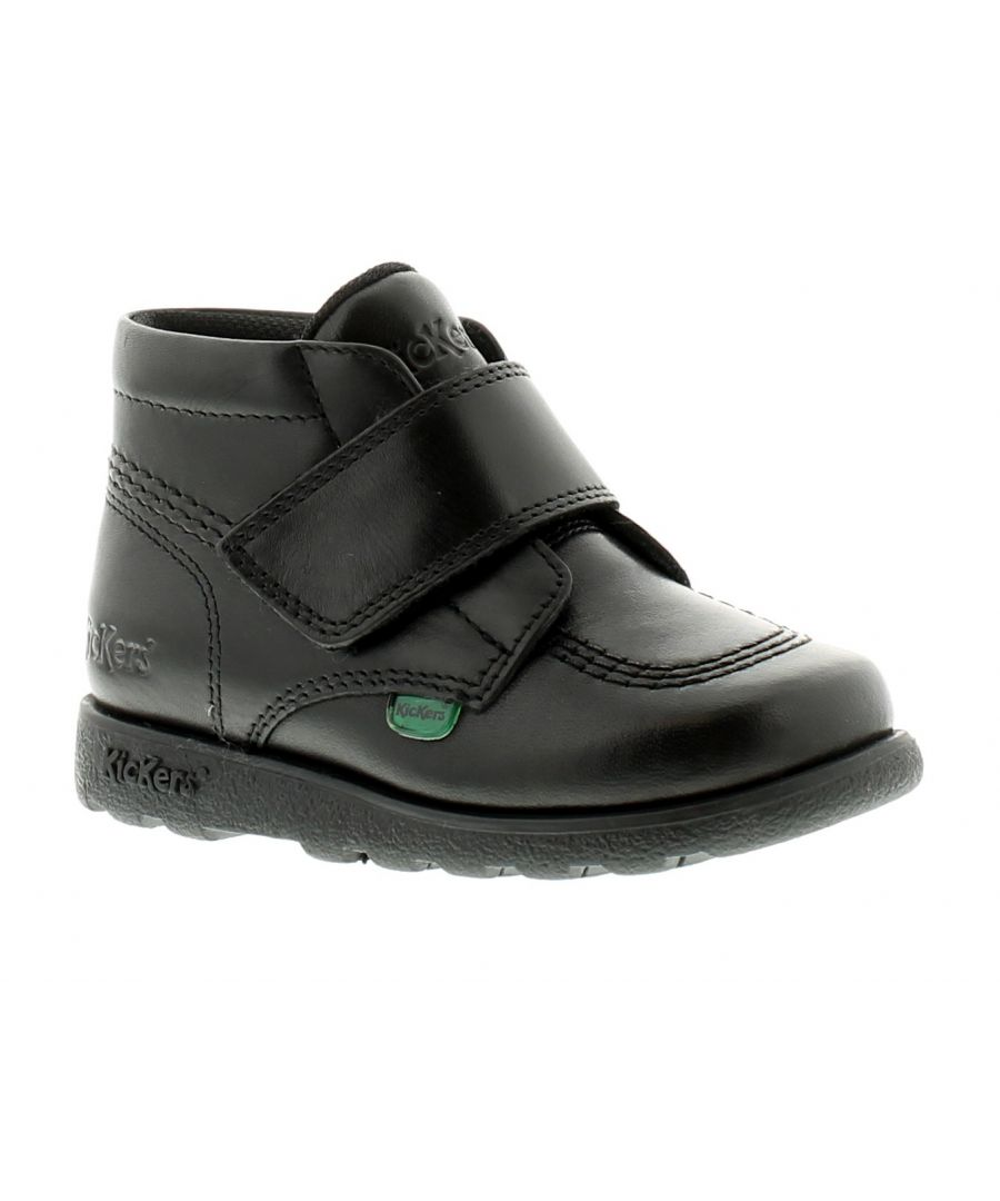 Image for New Younger Boys/Childrens Black Kickers Fragma Strap Boots
