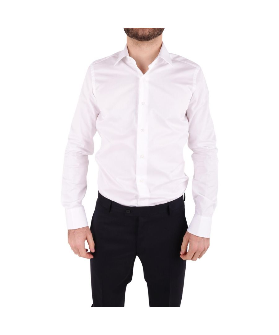 Image for UNGARO MEN'S BTCLO10L0622001 WHITE COTTON SHIRT