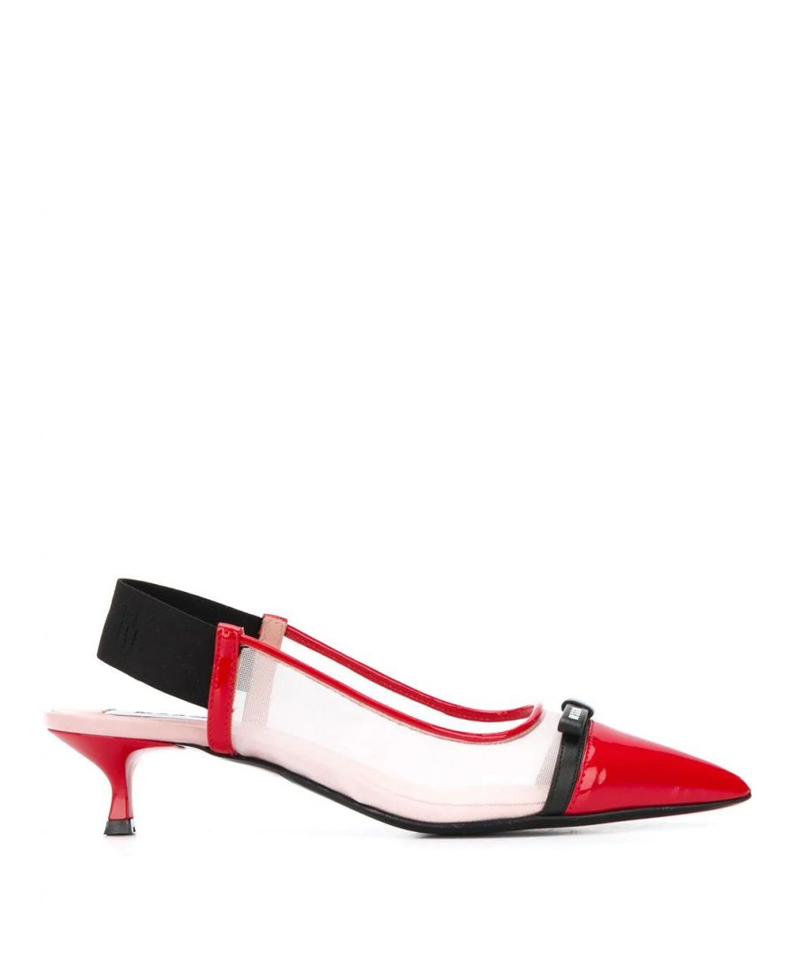 Image for MSGM WOMEN'S 2841MDS084733818 RED LEATHER HEELS