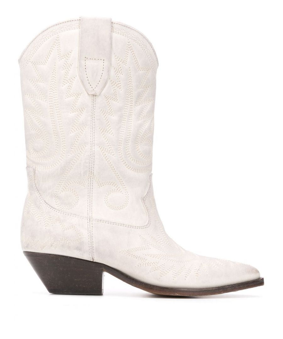 Image for ISABEL MARANT WOMEN'S BO044820P024S20WH WHITE LEATHER ANKLE BOOTS