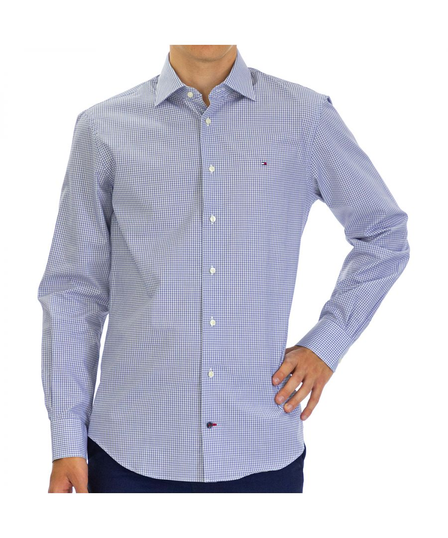Image for Tommy Hilfiger Men's Shirt with Long Sleeve Blue