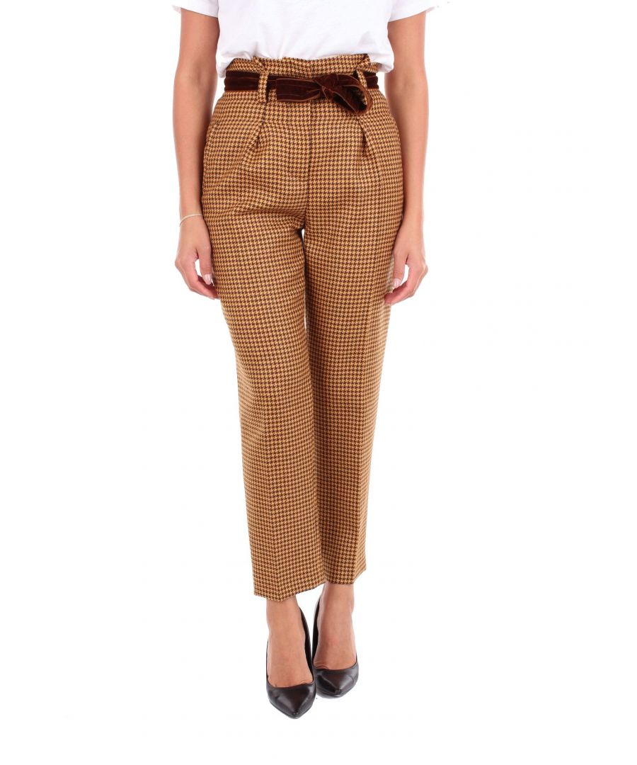 Image for PT01 WOMEN'S CX11VSVXZ00STDBROWN BROWN WOOL PANTS