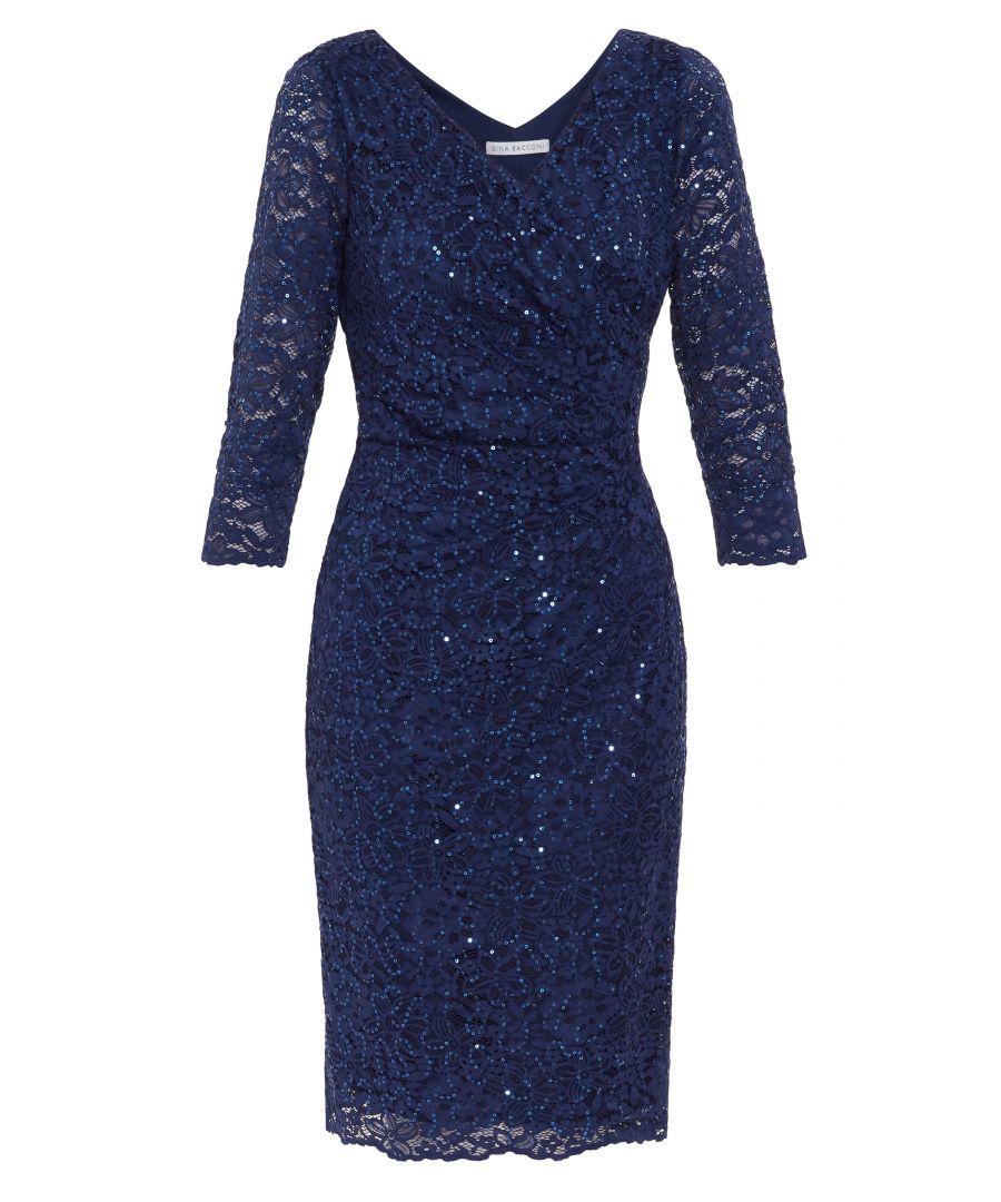 Image for Belle Lace  Wrap Dress