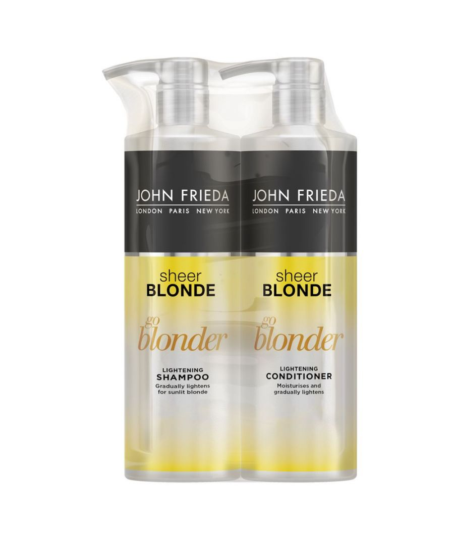 Image for John Frieda Sheer Blonde Go Blonder Lightening Shampoo & Conditioner 500ml Duo Pack
