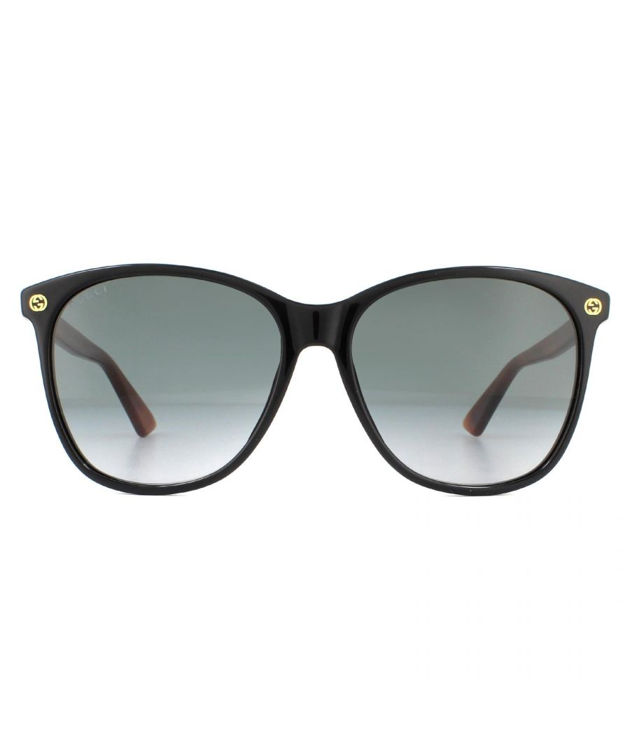 Image for Gucci Sunglasses GG0024S 003 Black Brown Grey Gradient