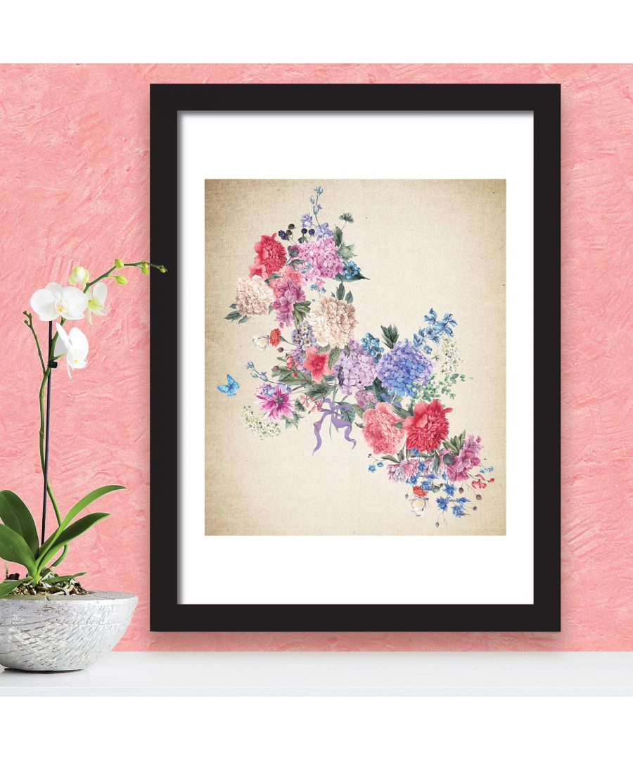 Image for 2in1 Flower Arts 3 Poster Self Adhesive DIY Wall Sticker, Living room wall sticker