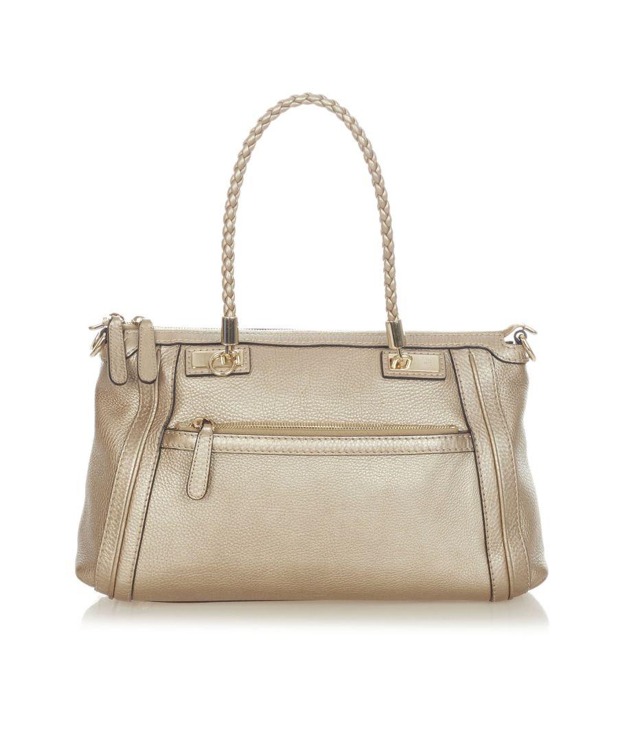 Image for Vintage Gucci Bella Leather Satchel Gold