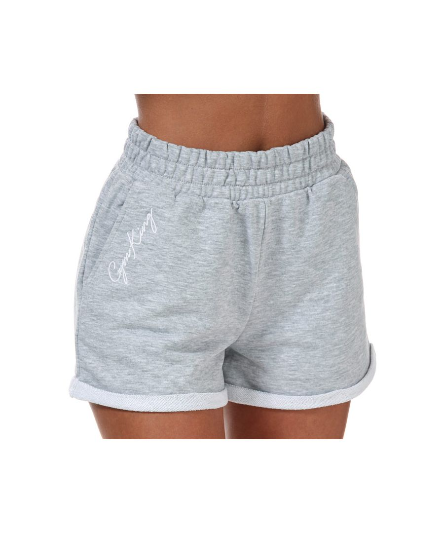 Image for Women's Gym King Loopback Shorts in Grey Marl