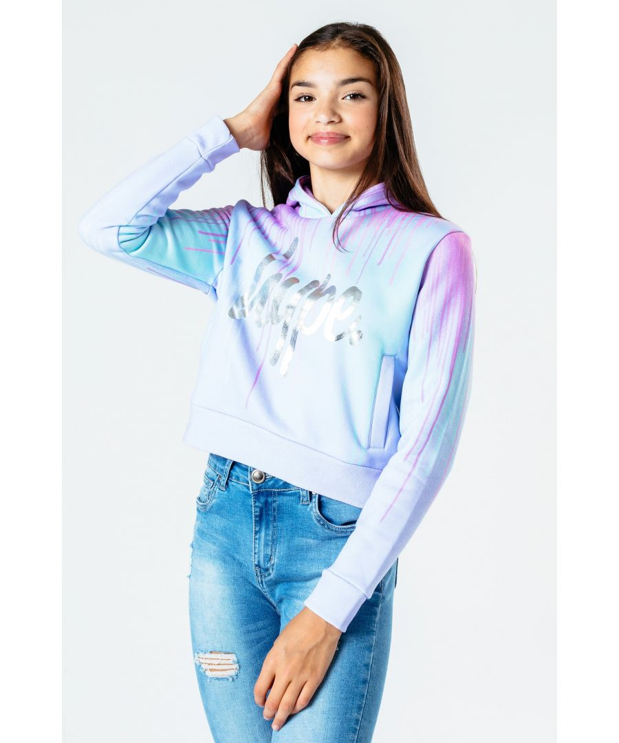 Image for Hype Pastel Drips Kids Crop Pullover Hoodie