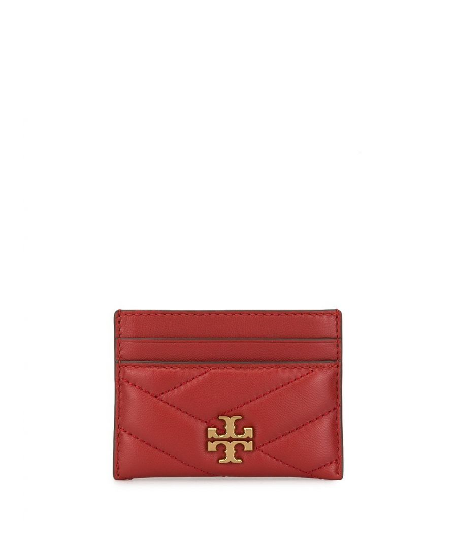 Image for TORY BURCH WOMEN'S 56815611 RED LEATHER CARD HOLDER