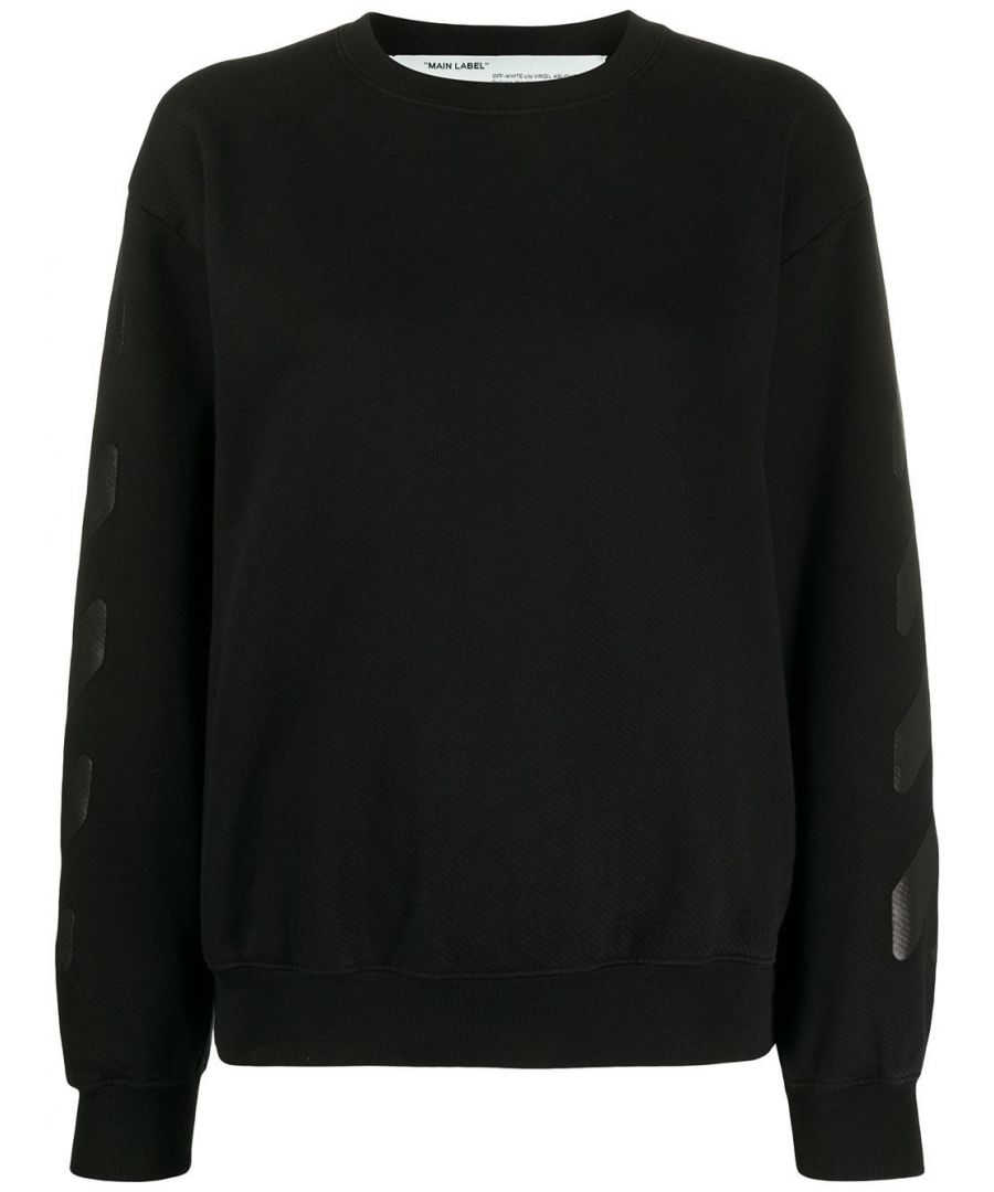 Image for OFF-WHITE WOMEN'S OWBA046R20F301251010 BLACK COTTON SWEATSHIRT