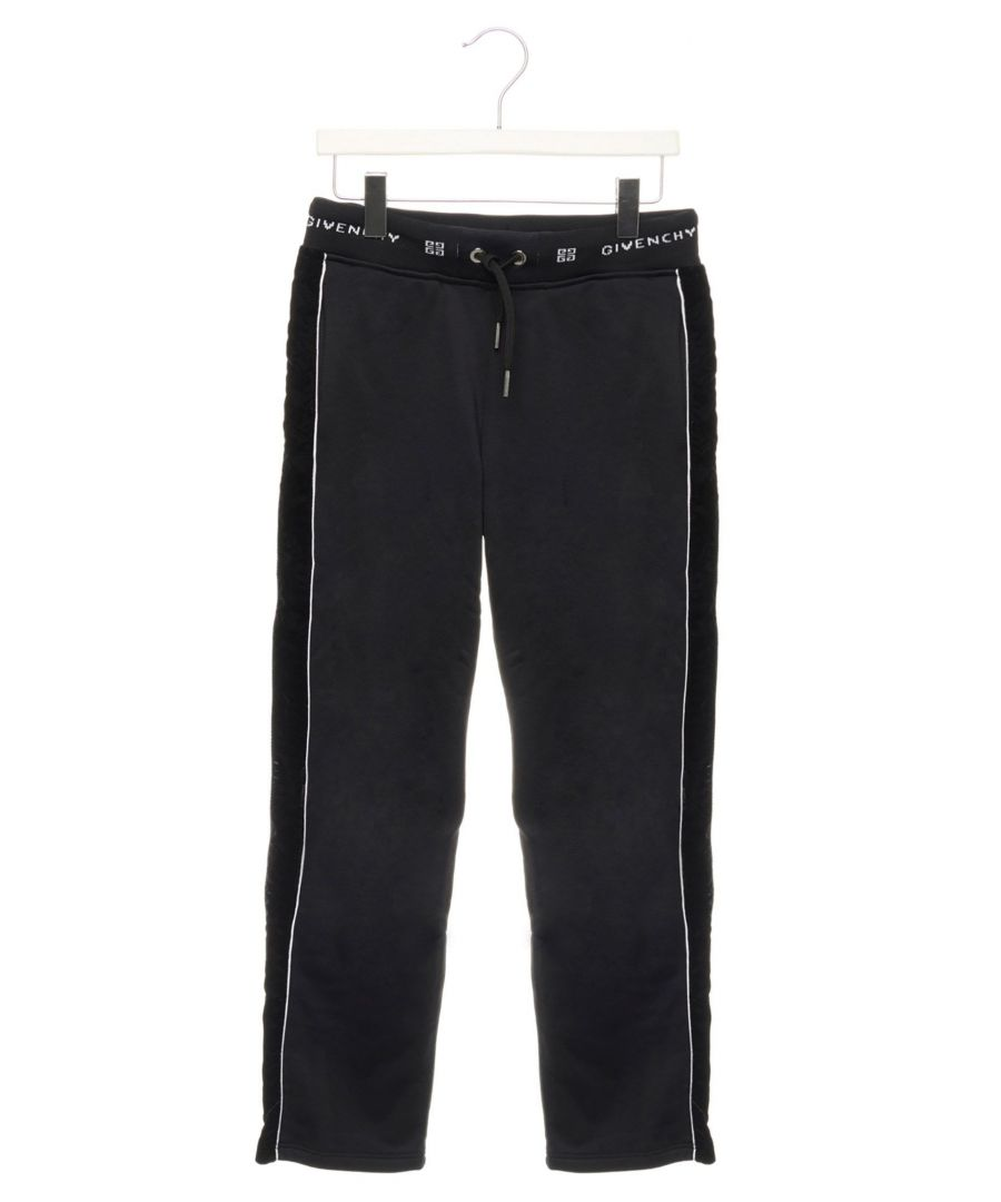 Image for GIVENCHY GIRLS H1406209B BLACK SYNTHETIC FIBERS JOGGERS