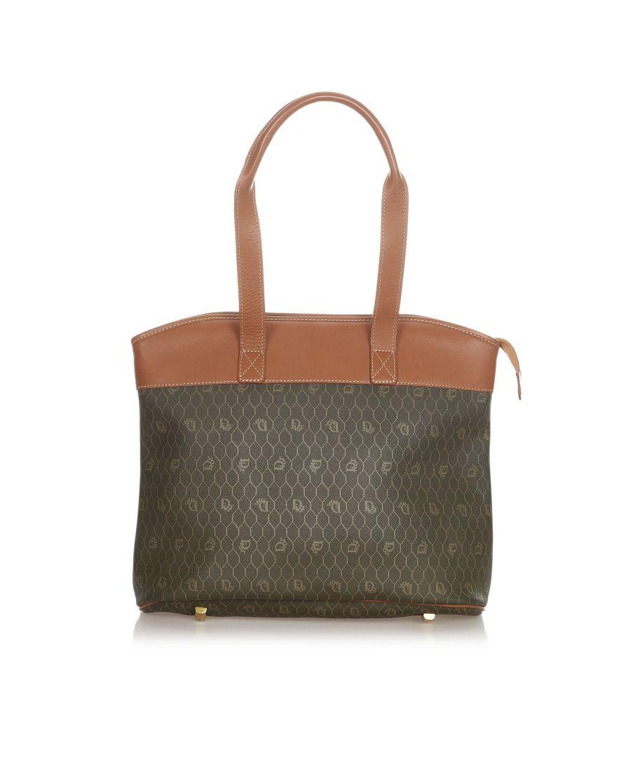 Image for Vintage Dior Honeycomb Tote Bag Brown