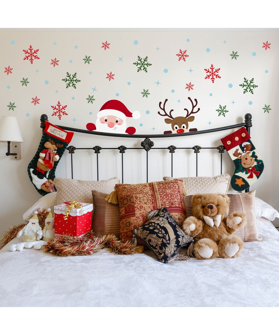 Image for C2W0075 - Snowflakes, Rudolph and Santa Claus Christmas Set - WS3329 + WS3326