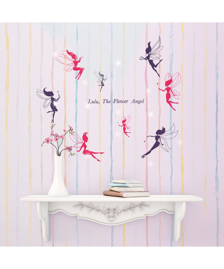 Image for Walplus Wall Sticker Decal Wall Art Fairies with Swarovski Crystals