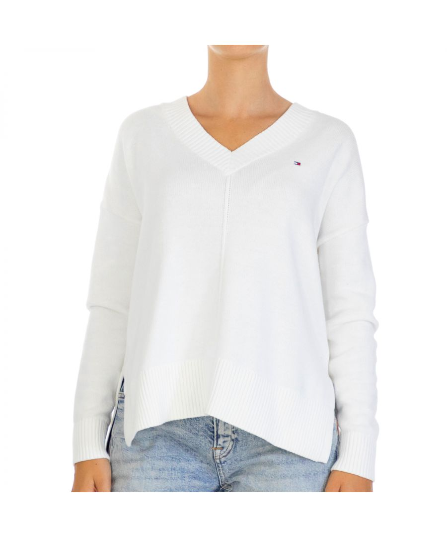Image for Tommy Hilfiger Women Pullover Kesha   Full sleeve White