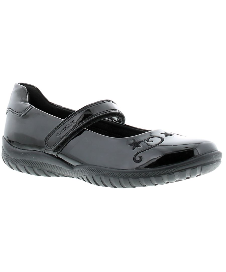 Image for Childrens Geox Shadow Synthetic Upper School Shoes With Rip Tape Fastening Breathable And Waterproof