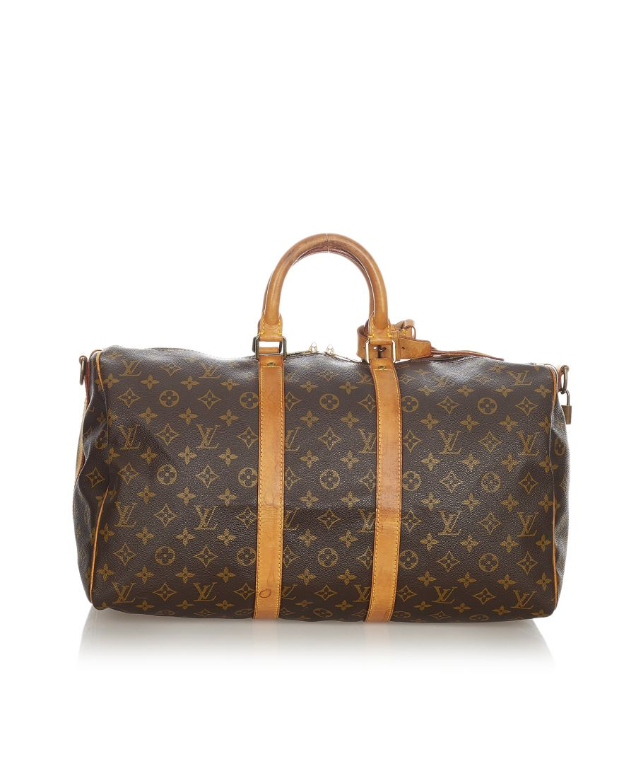 Image for Vintage Louis Vuitton Monogram Keepall Bandouliere 45 Brown