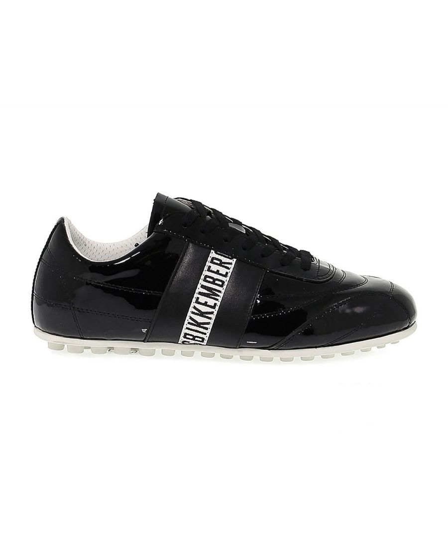 Image for BIKKEMBERGS WOMEN'S BKE107823W BLACK PATENT LEATHER SNEAKERS