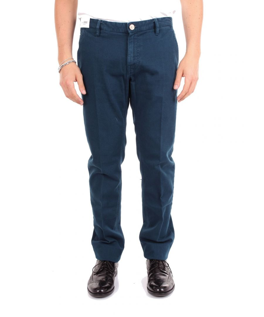 Image for PT01 MEN'S 0A12HT01Z00BASBLUE BLUE COTTON PANTS
