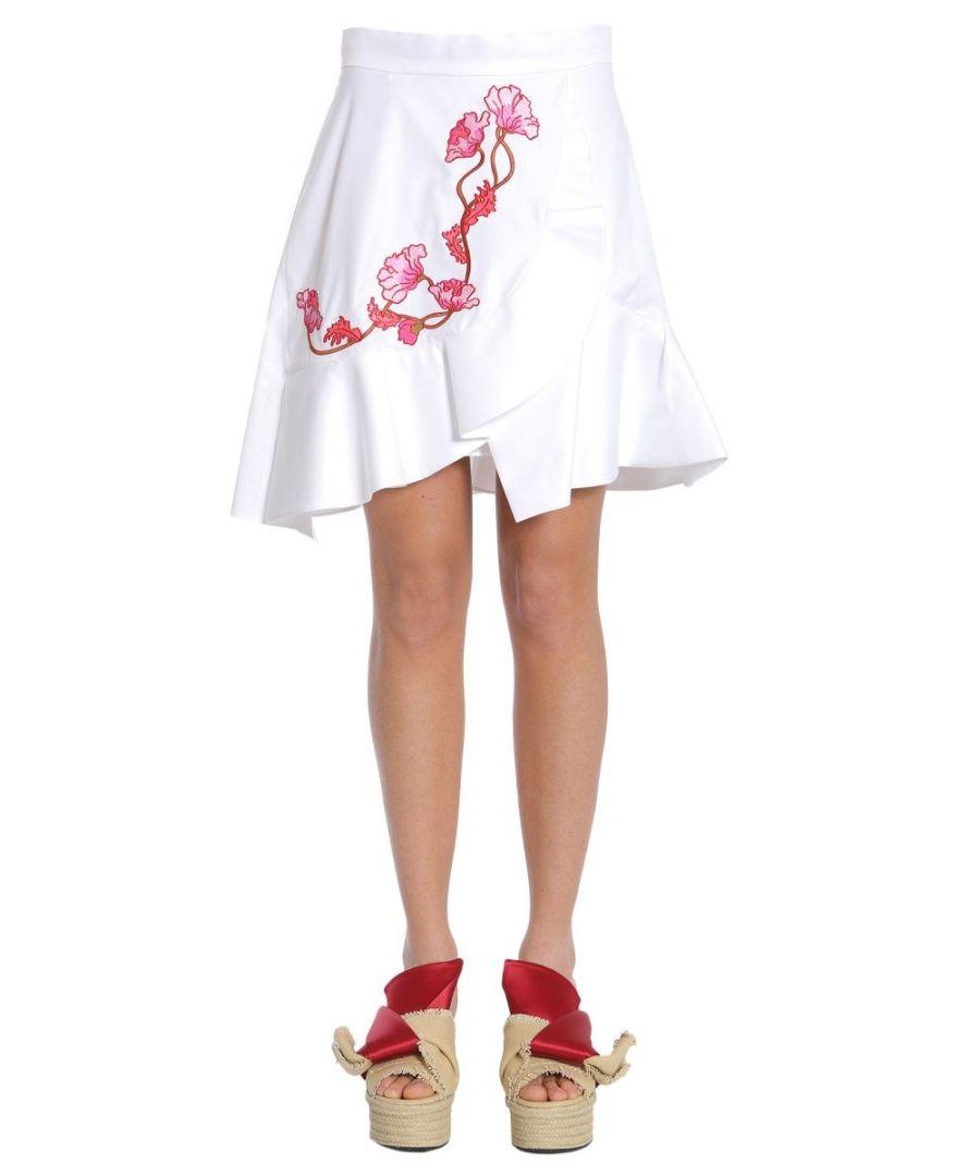 Image for CARVEN WOMEN'S 3012J16E001 WHITE COTTON SKIRT