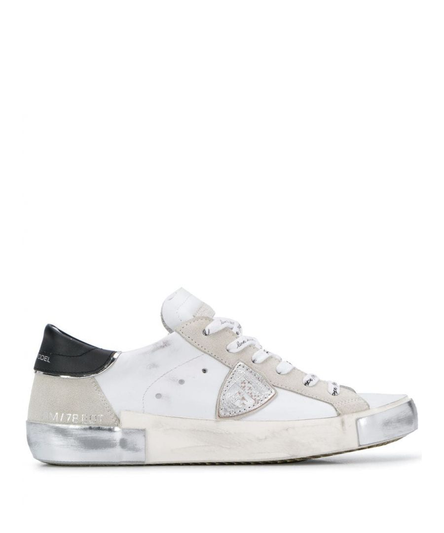 Image for PHILIPPE MODEL WOMEN'S PRLDMA02 WHITE LEATHER SNEAKERS
