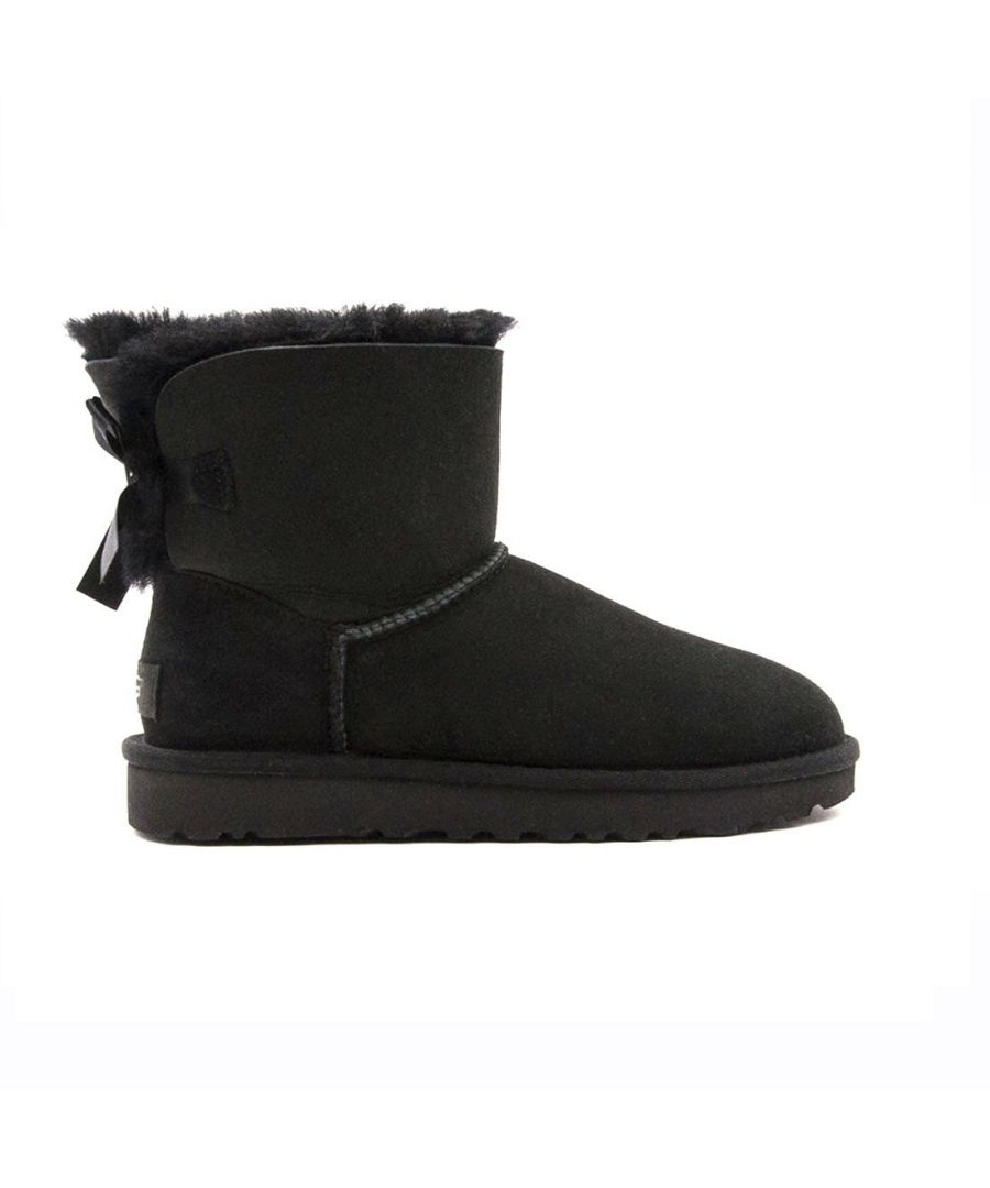 Image for UGG WOMEN'S 1016501WBLACK BLACK LEATHER ANKLE BOOTS