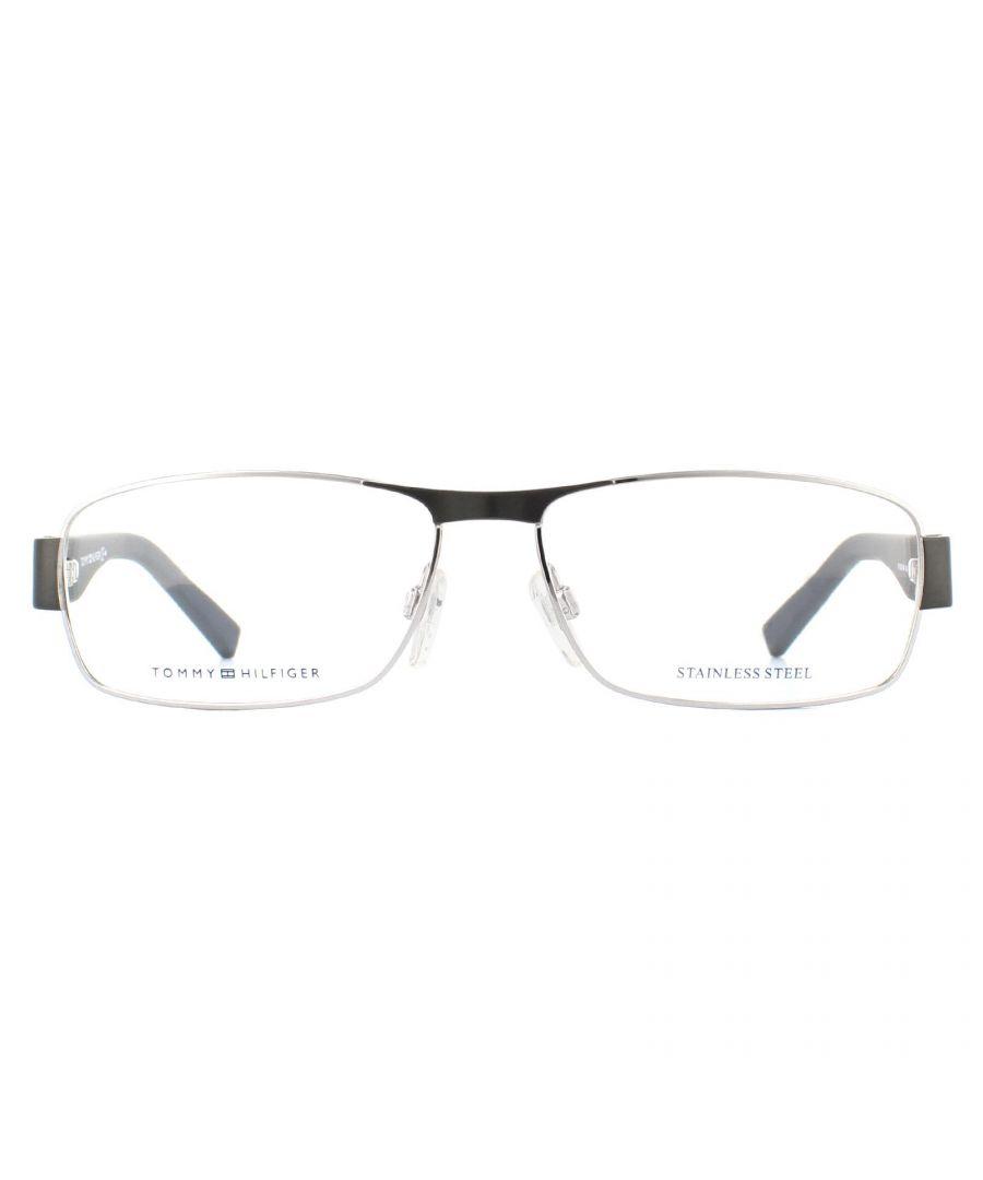 Image for Tommy Hilfiger Glasses Frames TH 1163 V4V Ruthenium Blue Rubber