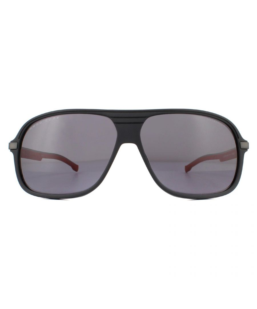 Image for Hugo Boss Sunglasses BOSS 1200/S BLX/M9 Matte Black Red Grey Polarized