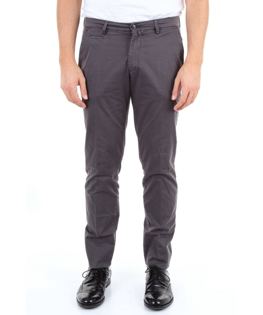 Image for BRIGLIA 1949 MEN'S BG053909ANTRACITE GREY COTTON PANTS