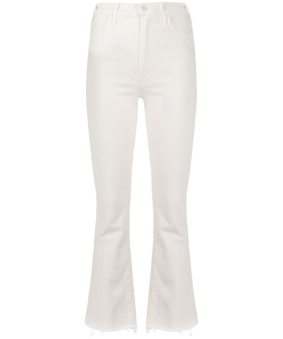 Image for MOTHER WOMEN'S 1117753ACFS WHITE COTTON JEANS