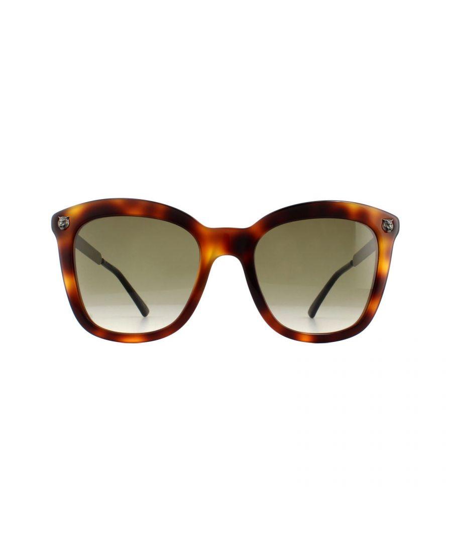 Image for Gucci Sunglasses GG0217S 002 Havana Silver Brown