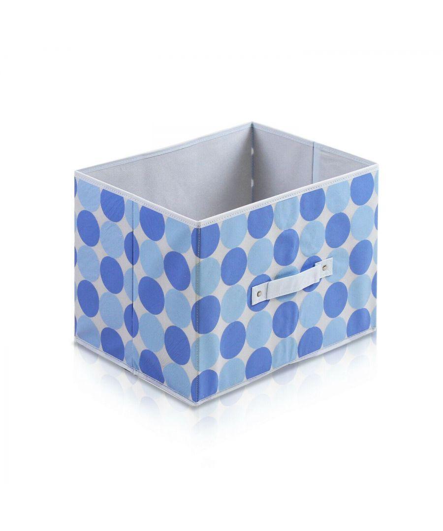 Image for Furinno Laci Dot Design Non-Woven Fabric Soft Storage Organizer, Blue