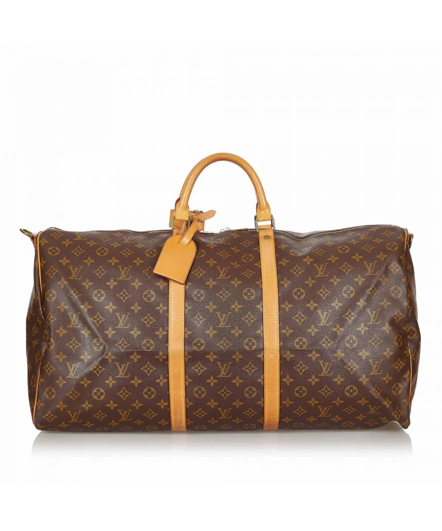 Image for Vintage Louis Vuitton Monogram Keepall Bandouliere 60 Brown
