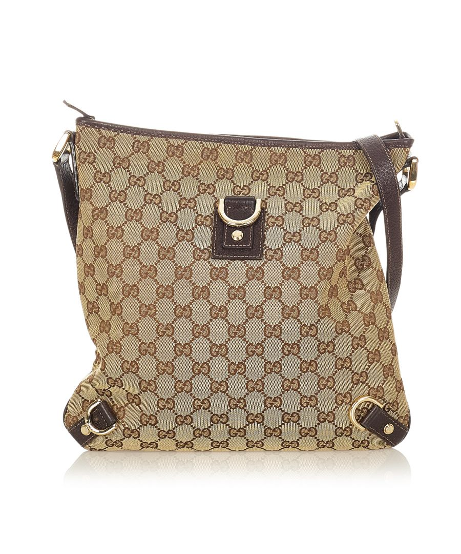 Image for Vintage Gucci GG Canvas Abbey D-Ring Crossbody Bag Brown