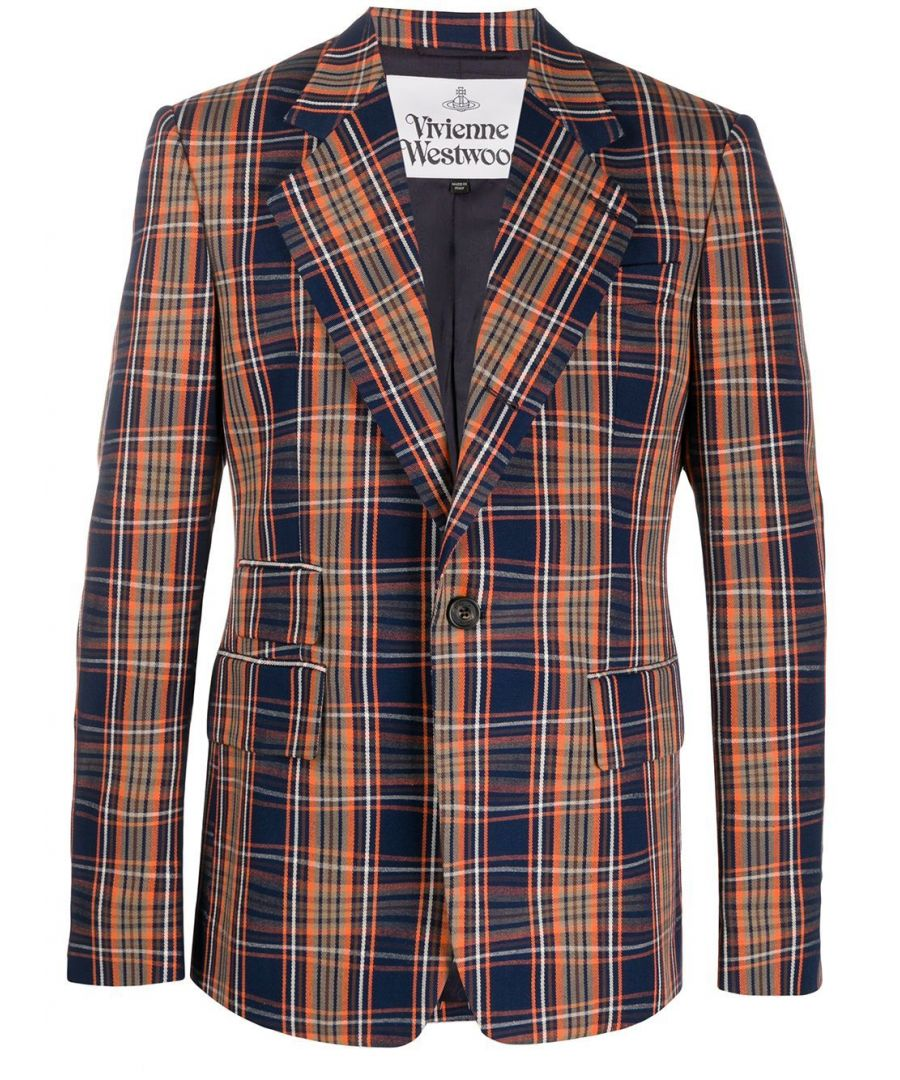 Image for VIVIENNE WESTWOOD MEN'S S25BN0450S52667001F ORANGE COTTON BLAZER