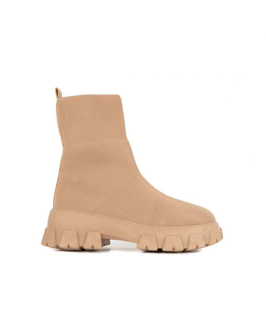Image for María Barceló Sock Boot in Camel