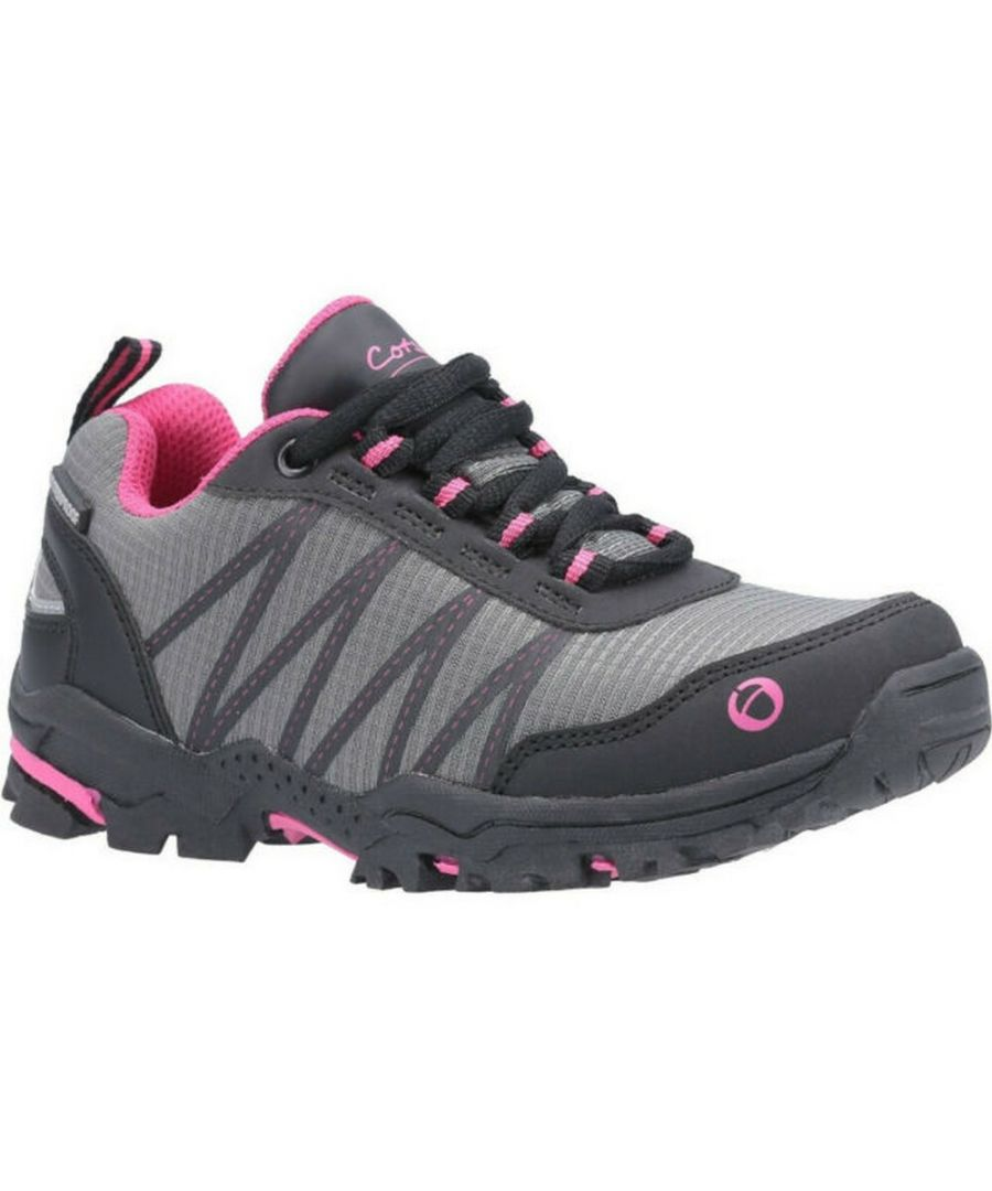 Image for Cotswold Childrens/Kids Little Dean Lace Up Hiking Waterproof Trainer (Pink/Grey)